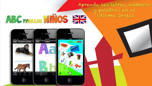 Aprende Inglés ABC para los Niños - Lecciones de vocabulario pruebas y juegos educativos con audio y