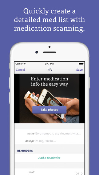 CareZone Organize health information for you and your family