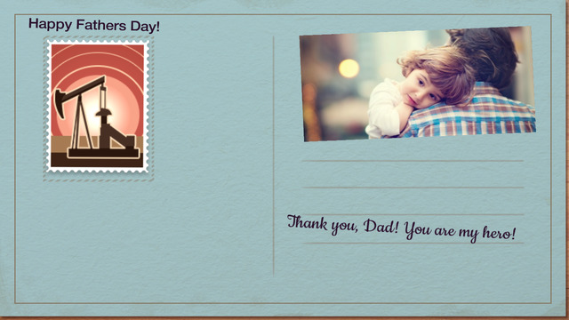 Fathers Day Card - Creative Card Present Pro