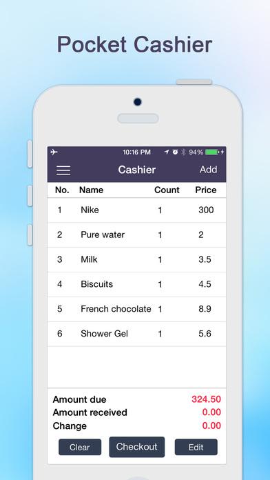 Cashier-Shop Assistant Screenshots