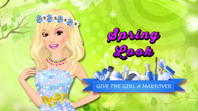 Spring Look - Make Up for Girl in Beauty Salon