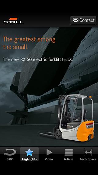 STILL RX 50 electric forklift truck iPhone Screenshot 2