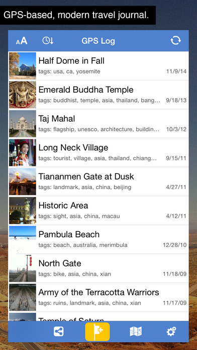GPS Log iPhone Screenshot 1
