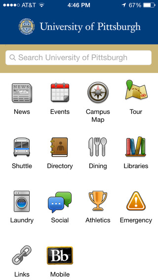 University of Pittsburgh Mobile Application