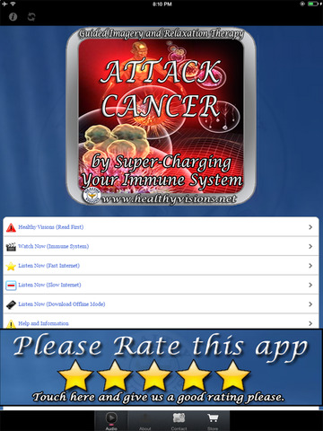 Attack Cancer using Hypnosis for iPad