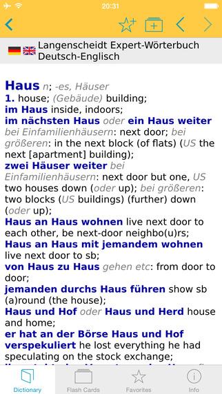 German English Talking Dictionary Expert