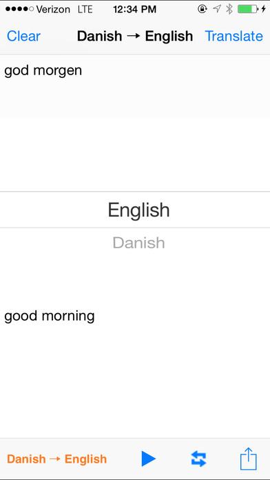English Danish Translator iPhone Screenshot 1