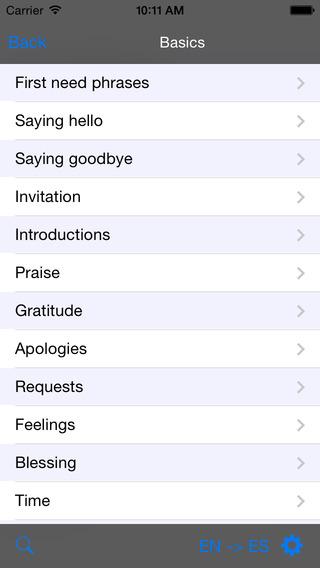 English-German-Spanish Talking Travel Phrasebook iPhone Screenshot 2