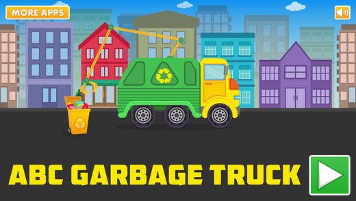 ABC Garbage Truck Free - an alphabet fun game for preschool kids learning ABCs and love Trucks and T