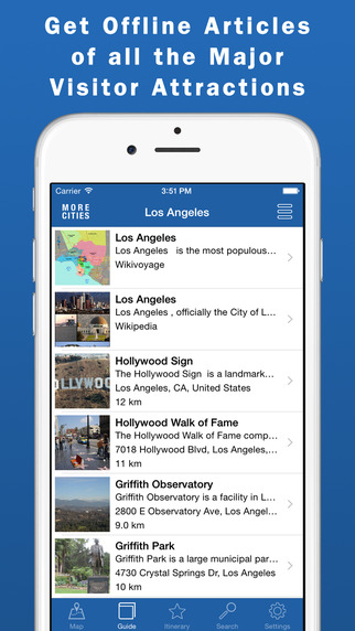 Los Angeles Travel Guide Offline Map