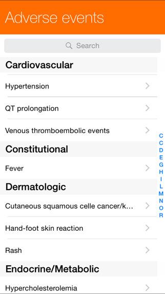 Oral chemotherapies Screenshots