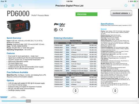 PDC Price List