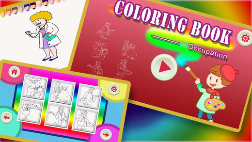 ABC Colouring Book 16 - Making the people in different occupations colorful