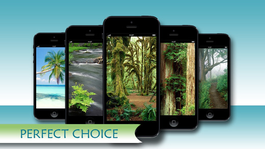 Amazing Nature Wallpapers Backgrounds HD for iPhone and iPod: With Awesome Shelves Frames