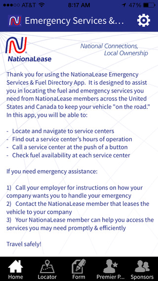 NationaLease Emergency Services Fuel Locator