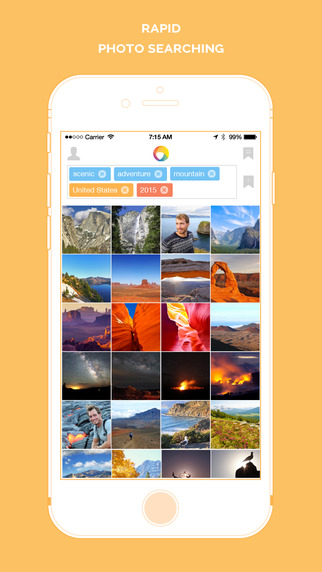 PhotoTime - automatic face tagged gallery with smart keywords search for organizing your everyday mo