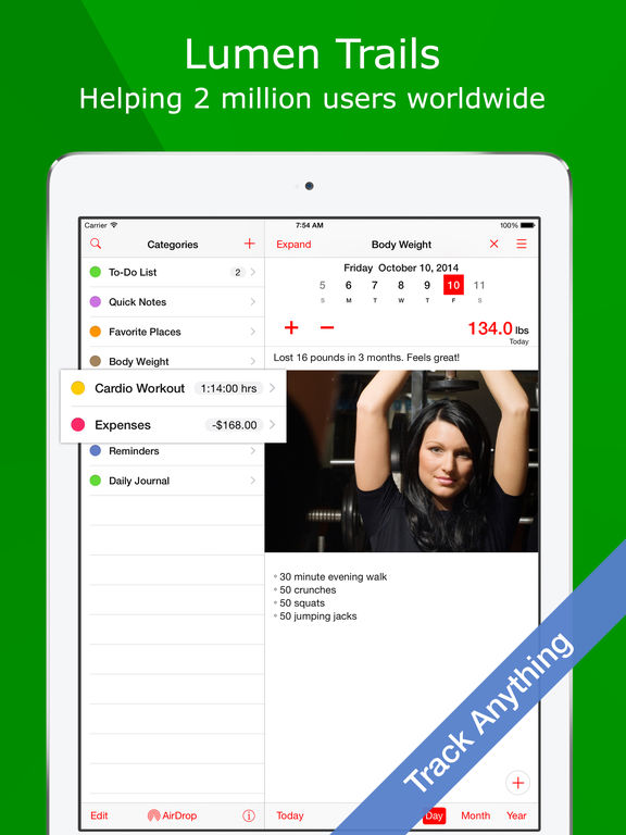 Daily Tracker+ Journal, Day Planner & Diary iPad