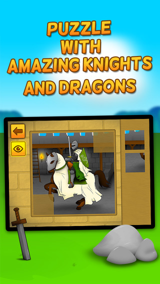 Kids Play Brave Knights and Dragons Puzzles for Toddlers and Preschoolers - Free