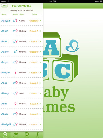 Baby Names and Meanings - Popular Name for Boys & Girls from Mobile Mom screenshot
