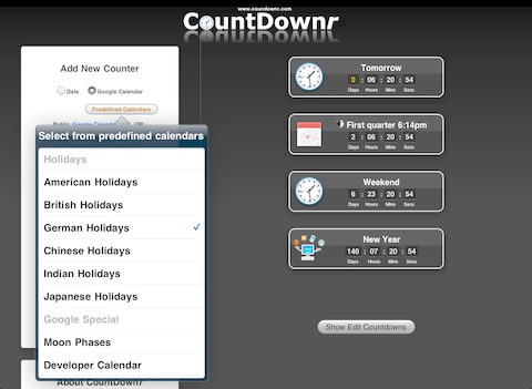 CountDownr iPad Screenshot 1