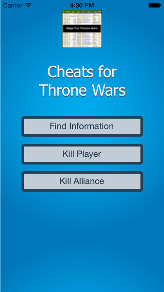 Cheats for Throne Wars