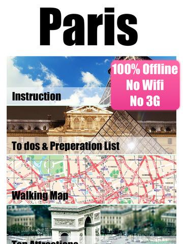 Paris travel guide and offline map - metro paris subway, CDG ORLY roissy paris airport transport, city Paris guide, SNCF TGV traffic maps lonely planet Paris trip advisor