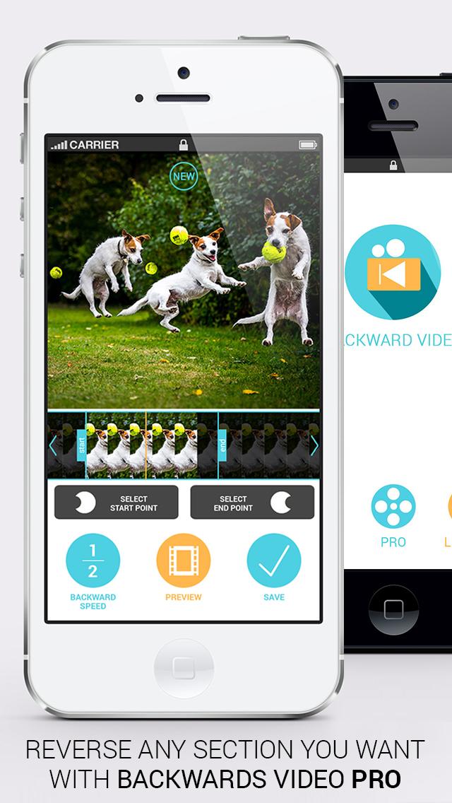 倒向视频 - Vine 和 Instagram的反向慢动作倒带编辑影片剪辑 - iPhone 截图 4