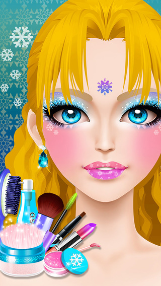 Ice Princess Salon Fever - Birthday Party Makeover Bubble SPA Center Girls Games