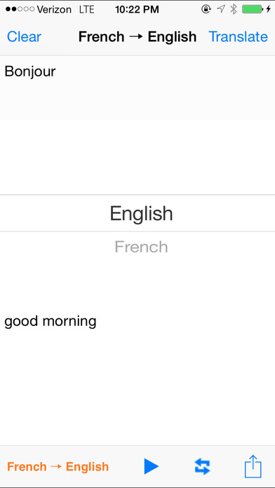 English French Translator with Voice iPhone Screenshot 1