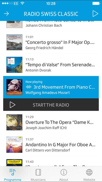 Radio Swiss Classic iPhone Screenshot 1