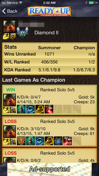 LoL Ready Up - League of Legends Stats Real-time and more