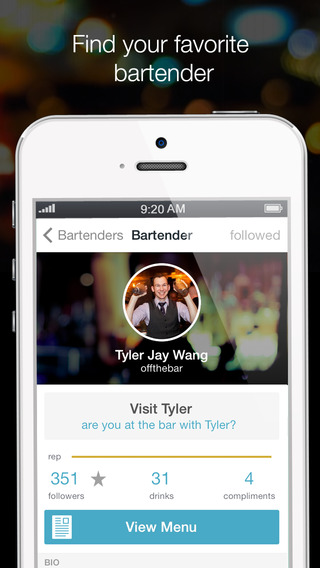onthebar - find bartenders discover cocktails have