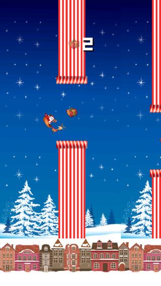 A Flappy Santa Claus Bird Flyer - Happy Christmas Presents Hunt
