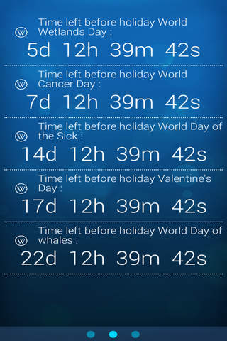 Holidays Notifier Adv screenshot 1