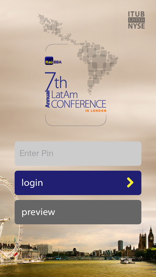 Itau BBA 7th Annual LatAm Conference in London App