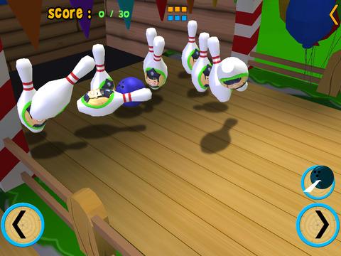 Dolphin bowling for kids vip iPad Screenshot 3