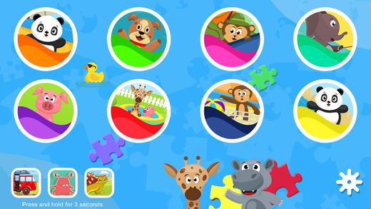 Panda Joe's Summer Fun Jigsaw Puzzles - Educational Learning Fun Adventure Game for Kids Boys and Gi