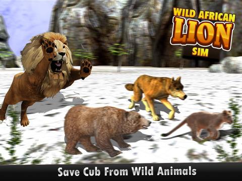 野生非洲狮辛3d - 真正的野生动物园国王狩猎鹿雪山冬季