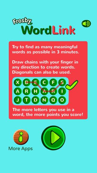 Frosby WordLink Word Puzzle - A SylvanPlay Network App