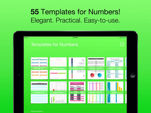 Templates for Numbers (for iPad, iPhone, iPod touch) 앱스토어 스크린샷