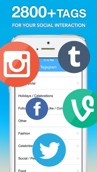 Tagsgram Free - Most Popular Tags for Likes Comments and Followers on Instagaram Vine and Tumblr
