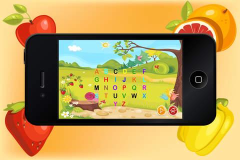 Baby Flash Cards ABC Fruits - Learning game for Kids in Preschool, K12 & Kindergarten screenshot 3
