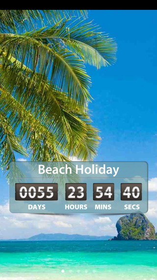 Holiday and Vacation Countdown Widget - Digital Event Count Down Timer Counting how many days and ti
