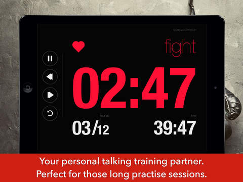 Boxing Stopwatch - Timer For MMA, Rounds And Boxing Fight Workouts And Gym Practice screenshot