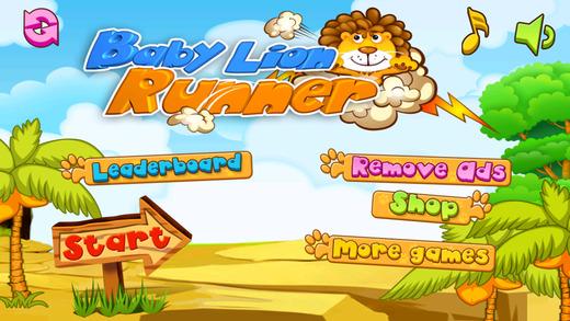 Baby Lion Runner - Addictive Animal Running Game