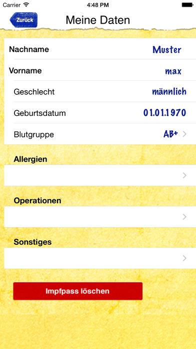 Impfpass iPhone Screenshot 2