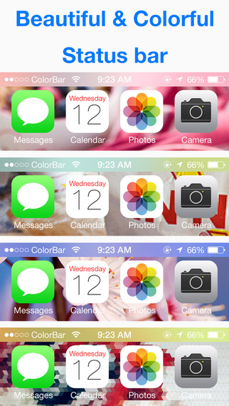 ColorBar for iOS 8 - Customize the color of the dock and status bar on top of the wallpaper