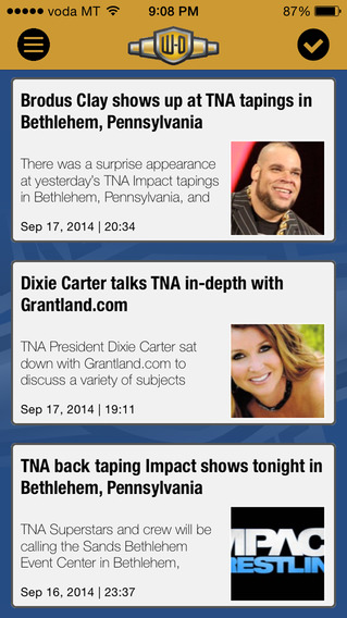 Wrestling-Online.com News iPhone Screenshot 3