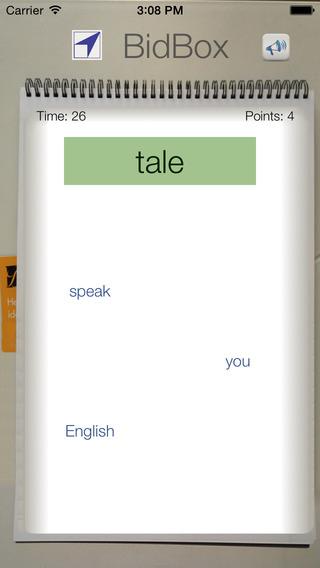 BidBox Vocabulary Trainer: English - Danish iPhone Screenshot 3