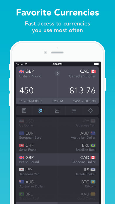 iCurrency Pad ~ The Currency Exchange Rates Converter iPhone Screenshot 2